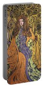Lady Of Swirl Portable Battery Charger
