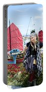 Lady Pirate And Friend Portable Battery Charger