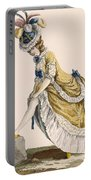 Lady Pulling Up Her Stocking, Engraved Portable Battery Charger