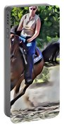 Lady Riding Portable Battery Charger