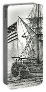 Lady Washington At Friendly Cove Portable Battery Charger by James Williamson