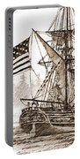 Lady Washington At Friendly Cove Sepia Portable Battery Charger by James Williamson