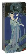 Lady With A Dragon Portable Battery Charger