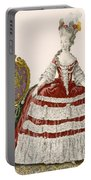 Ladys Court Gown In Dark Cherry Portable Battery Charger