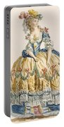 Ladys Elaborate Ball Gown, Engraved Portable Battery Charger