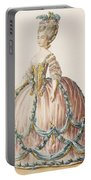 Ladys Gown For The Royal Court Portable Battery Charger