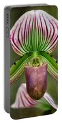 Ladys Slipper Orchid Portable Battery Charger