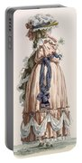 Ladys Summer Walking Gown, Engraved Portable Battery Charger