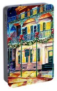 Lafitte Guest House At Christmas Portable Battery Charger