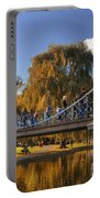 Lagoon Bridge In Autumn Portable Battery Charger