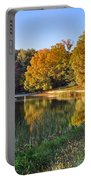 Lake At Chilhowee Portable Battery Charger by Debra and Dave Vanderlaan