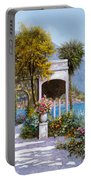 Lake Como-la Passeggiata Al Lago Portable Battery Charger by Guido Borelli