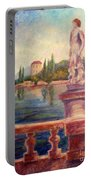 Lake Como View Portable Battery Charger