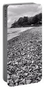 Lake Erie Coast Black And White Portable Battery Charger