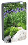 Lake George Irises Portable Battery Charger