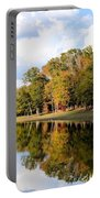 Lake House In Autumn Portable Battery Charger