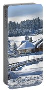 Lake House In Snow Portable Battery Charger