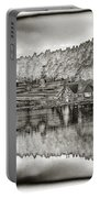 Lake House Reflection Portable Battery Charger by Ron White