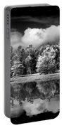Lake In Black And White One Portable Battery Charger