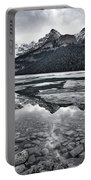 Lake Louise - Black And White #2 Portable Battery Charger