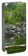 Lake Mcdonald Falls River Glacier National Park Portable Battery Charger