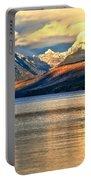 Lake Mcdonald Sunset Portable Battery Charger