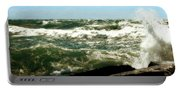 Lake Michigan In An Angry Mood Portable Battery Charger