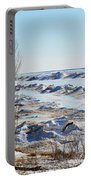Lake Michigan In Ice Portable Battery Charger