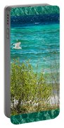 Lake Michigan Seagull In Flight Portable Battery Charger