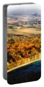 Lake Michigan Shoreline In Autumn Portable Battery Charger