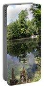 Lake On The Magnolia Plantation With White Bridge Portable Battery Charger