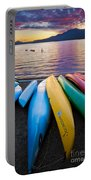 Lake Quinault Kayaks Portable Battery Charger by Inge Johnsson