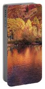 Lake Reflection In Fall 2 Portable Battery Charger