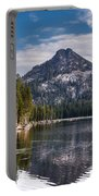 Lake Reflection Portable Battery Charger by Robert Bales