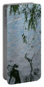Lake Reflections Of Blue Portable Battery Charger