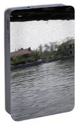 Lake Resort Framed From A Houseboat Portable Battery Charger