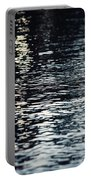 Lake Ripples In Blue At Sunset Portable Battery Charger