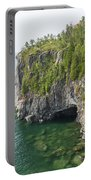 Lake Superior Cliff Scene 10 Portable Battery Charger
