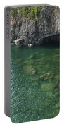 Lake Superior Cliff Scene 7 Portable Battery Charger