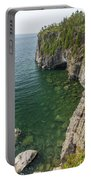 Lake Superior Cliff Scene 9 Portable Battery Charger