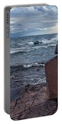 Show Me The Way - Lake Superior Rock Stack Portable Battery Charger