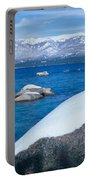 Lake Tahoe In Winter, California Portable Battery Charger