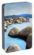 Lake Tahoe Rock Garden Portable Battery Charger