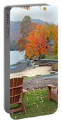 Lake Toxaway Marina In The Fall Portable Battery Charger