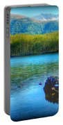 Lake View Of Mount Saint Helens  Portable Battery Charger