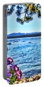 Lake View On Lake Tahoe By Diana Sainz Portable Battery Charger