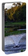 Lake With Fountain Portable Battery Charger