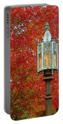 Lamp Post In Fall Portable Battery Charger