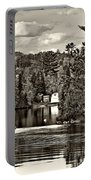 Land Of Lakes Sepia Portable Battery Charger