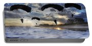 Landing At Sunset Portable Battery Charger